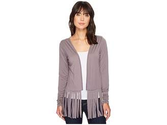 Roper 1461 Poly Spandex Long Sleeve Cardigan Women's Sweater
