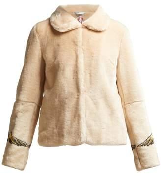 BEIGE Shrimps - Junior Angel Print Faux Fur Jacket - Womens Multi