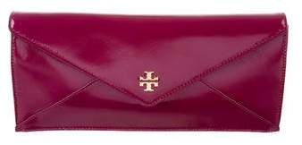 Tory Burch Patent Leather Envelope Clutch - BURGUNDY - STYLE
