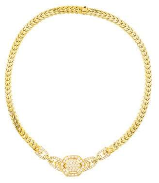 Cartier Diamond Wheat Link Choker Necklace