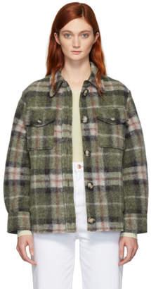 Etoile Isabel Marant Green Plaid Gaston Blanket Shirt