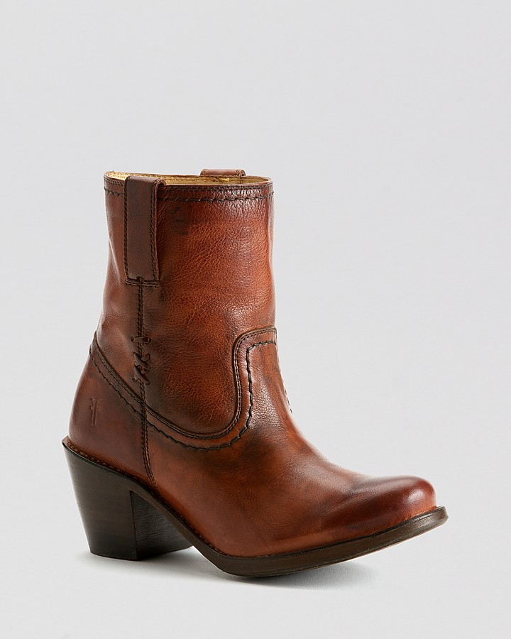 Frye Boots - Carmen X Stitch Short