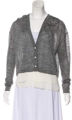 Kolor Long Sleeve Layered Cardigan
