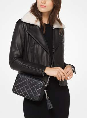 MICHAEL Michael Kors Shearling and Leather Moto Jacket