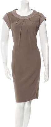 Fabiana Filippi Cap-Sleeve Knee Length Dress