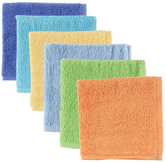 Baby Vision Luvable Friends Washcloths, 6-Pack, One Size