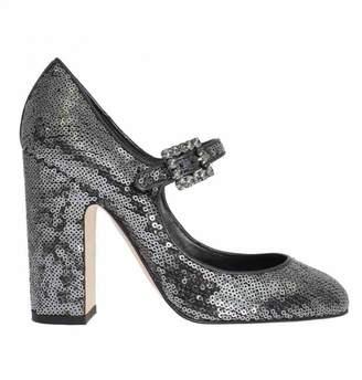 Dolce & Gabbana Grey Glitter Heels