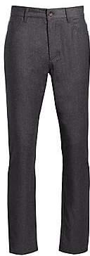 Saks Fifth Avenue Wool Blend Flannel Flat Trousers