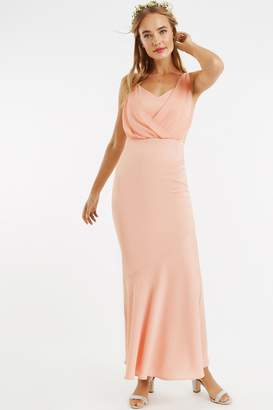 b221861980cd at Little Mistress · Oasis Dusty Pink Emily Bow-Back Maxi Dress