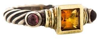 David Yurman Citrine & Garnet Renaissance Ring