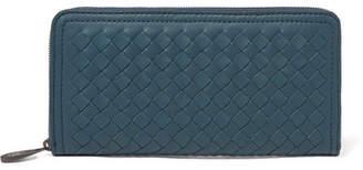 Bottega Veneta Intrecciato Leather Continental Wallet - Blue