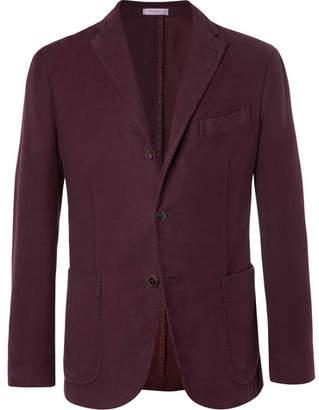 Boglioli Burgundy K-Jacket Cotton-Moleskin Blazer