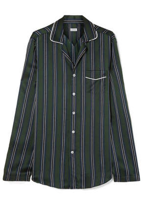 Loewe Striped Silk-charmeuse Shirt - Navy