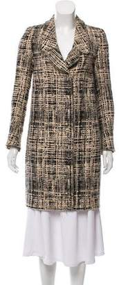 Prada Checked Knee-Length Coat