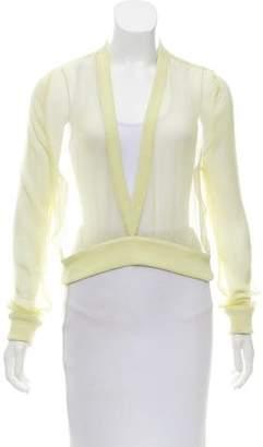 Givenchy Sheer Silk Top