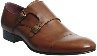 dca0307d719 Poste Italiano Double Monk Shoes Tan Leather