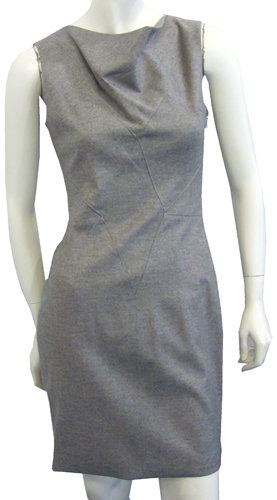 Helmut Lang Seamed Dress In Grey