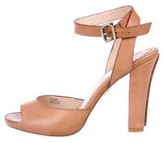 Pour La Victoire Leather Ankle Strap Sandals
