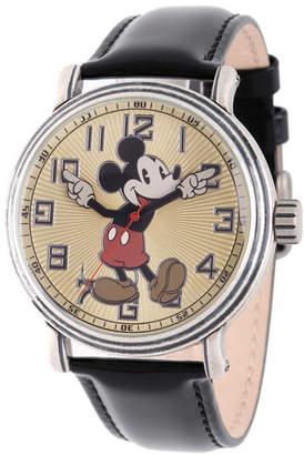 EWatchFactory Disney Mickey Mouse Men Antique Silver Vintage Alloy Watch