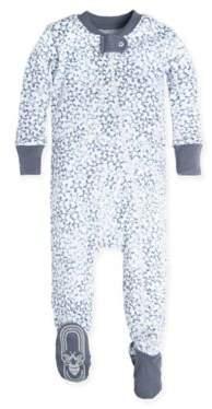 Burt's Bees Baby® Sherriff's Stars Footie in White/Blue