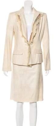 Christian Lacroix Silk Structured Skirt Suit