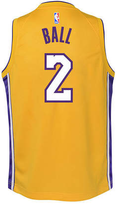 Nike Lonzo Ball Los Angeles Lakers Icon Swingman Jersey, Big Boys (8-20)