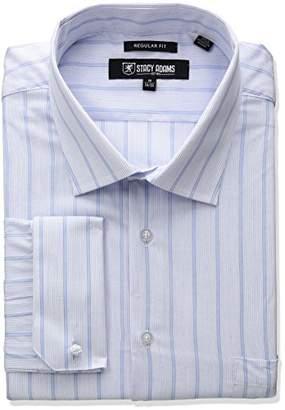 Stacy Adams Men's Big and Tall Stripe Y.d. Dress Shirt