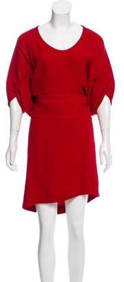 Vionnet Ruched Knee-Length Dress w/ Tags