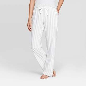 Stars Above Women's Striped Perfectly Cozy Flannel Pajama Pants - Stars Above Heather Gray