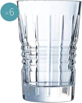 Cristal d'Arques Rendez-Vous Hi-Ball Glass, 360ml (Set of 6)