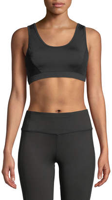 Tahari Sport Cristina Lace-Up Mesh Sports Bra