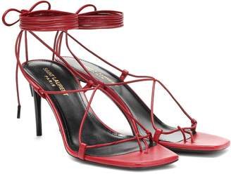Saint Laurent Paris 75 leather sandals