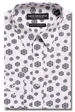 Nick Graham Modern-Fit Medallion Dress Shirt