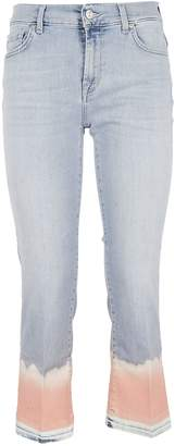 7 For All Mankind Cropped Unrolle Jeans