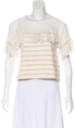 See by Chloe Short Sleeve Striped Top