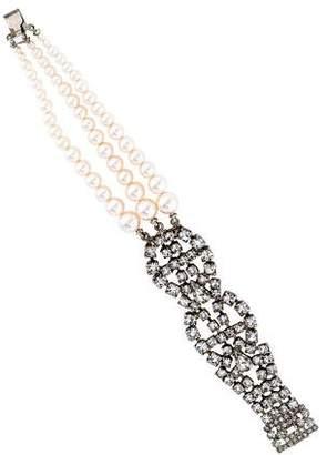 Tom Binns Crystal & Faux Pearl Petite Rouge Multistrand Bracelet