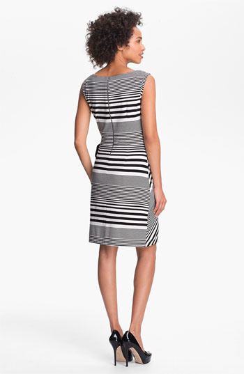 Tahari Stripe Jersey Sheath Dress