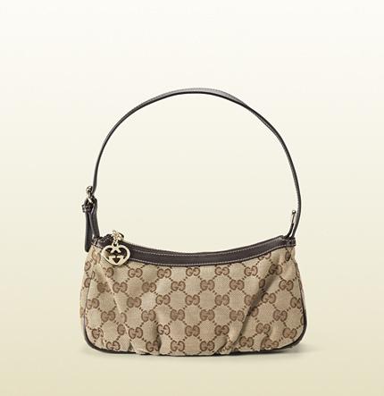 Gucci original GG strap cosmetic case