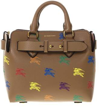 1b2be4922c45 Burberry The Belt Bag In Camel Leather With Equestrian Knight Print