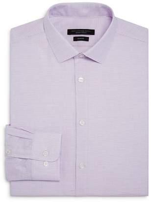 John Varvatos Micro-Checked Slim Fit Dress Shirt