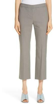 Nordstrom Signature Check Flare Leg Crop Pants