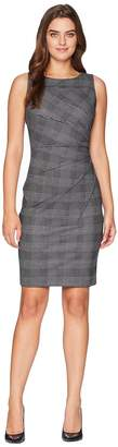 Calvin Klein Plaid Starburst Sheath Dress CD8CFB4P Women's Dress