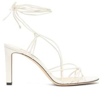Jimmy Choo Tao 85 Wrap Around Leather Sandals - Womens - Cream