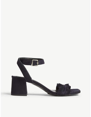 Claudie Pierlot Anvers frilled suede sandals