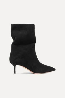 Aquazzura Very Boogie 60 Suede Ankle Boots - Black