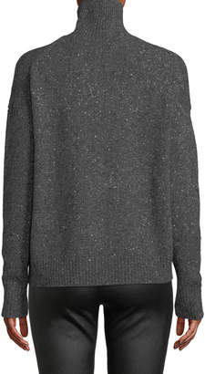 Vince Marled Knit Alpaca-Blend Turtleneck Sweater