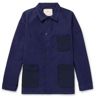 Le Mont Saint Michel Two-Tone Cotton-Moleskin Chore Jacket