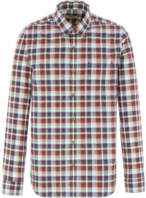 Gibson Men's Brown and Red Check Shirt