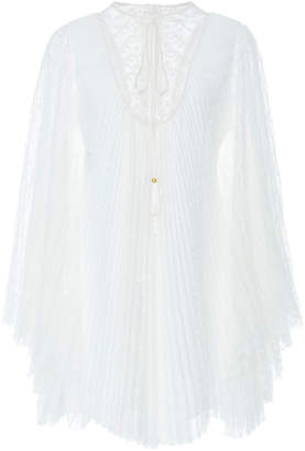 Philosophy di Lorenzo Serafini Bell-Sleeve Pleated Mini Dress