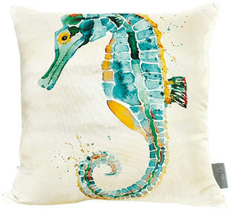 Sara B Seahorse Square Accent Pillow
